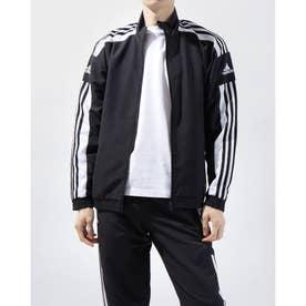 メンズ サッカー/フットサル ピステシャツ SQUADRA21プレゼンテーションジャケット GK9549 (ブラック)