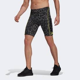 アディゼロ PRIMEBLUE ランニング ショートタイツ / Adizero Primeblue Running Short Tights (グレー)