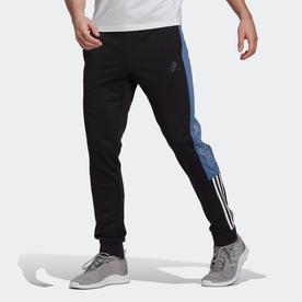 エッセンシャルズ フレンチテリー ロゴ カラーブロック パンツ / Essentials French Terry Logo Colorblock Pants (ブラック)