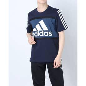 エッセンシャルズ ロゴ カラーブロック Tシャツ / Essentials Logo Colorblock Tee (ブルー)
