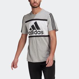 エッセンシャルズ ロゴ カラーブロック Tシャツ / Essentials Logo Colorblock Tee (グレー)