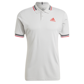 HEAT. RDY テニス   リブ ポロシャツ / HEAT. RDY Tennis Ribbed Polo Shirt (グレー)