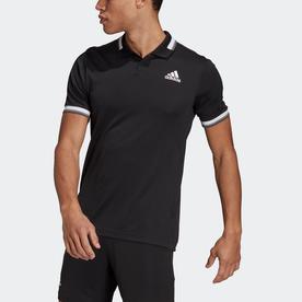 HEAT. RDY テニス   リブ ポロシャツ / HEAT. RDY Tennis Ribbed Polo Shirt (ブラック)