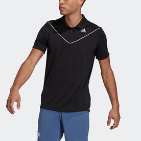 テニス  ピケ ポロシャツ / Tennis Pique Polo Shirt (ブラック)