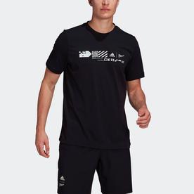 テニス Parley グラフィック半袖Tシャツ / Tennis Parley Graphic Tee (ブラック)