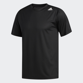 FreeLift Sport Fitted 3-Stripes Tee (ブラック)