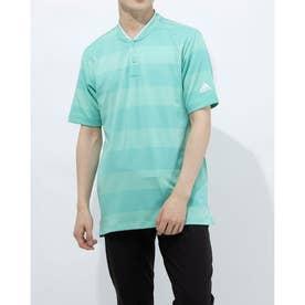 メンズ ゴルフ 半袖シャツ PRIMEKNIT 半袖スタンドカラーシャツ GM6834 (グリーン)