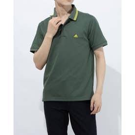 メンズ ゴルフ 半袖シャツ PRIMEGREEN ラインド 半袖ポロ GS9476 (グリーン)
