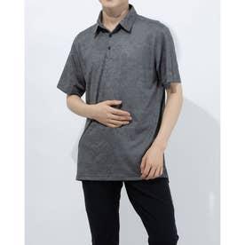 メンズ ゴルフ 半袖シャツ PRIMEGREEN カモジャカード 半袖シャツ GM0248 (ブラック)