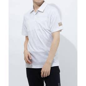 メンズ ゴルフ 半袖シャツ ADICROSS デザートプリント 半袖シャツ GM5507 (ホワイト)