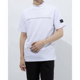 メンズ ゴルフ 半袖シャツ ADICROSS チェストラインド 半袖モックネックシャツ GM1211 (ホワイト)