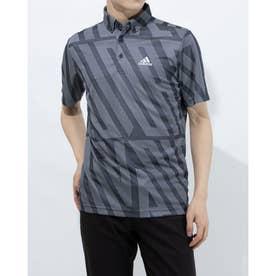 メンズ ゴルフ 半袖シャツ ADIDASジャカード 半袖ボタンダウンシャツ GM3634 (ネイビー)