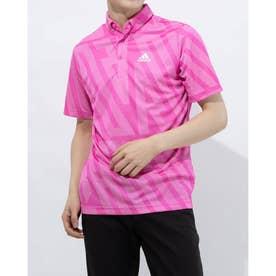 メンズ ゴルフ 半袖シャツ ADIDASジャカード 半袖ボタンダウンシャツ GM3635 (ピンク)