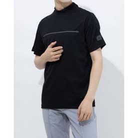 メンズ ゴルフ 半袖シャツ ADICROSS チェストラインド 半袖モックネックシャツ GM5506 (ブラック)