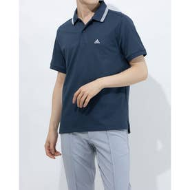 メンズ ゴルフ 半袖シャツ PRIMEGREEN ラインド 半袖ポロ GS9473 (ネイビー)