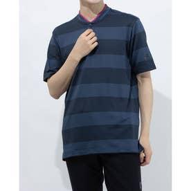 メンズ ゴルフ 半袖シャツ PRIMEKNIT 半袖スタンドカラーシャツ GL4639 (ネイビー)