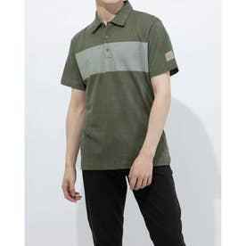 メンズ ゴルフ 半袖シャツ ADICROSS デザートプリント 半袖シャツ GM1212 (グリーン)