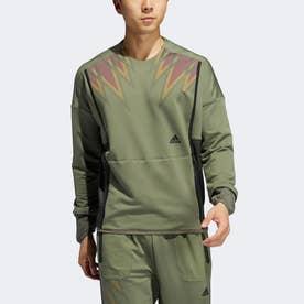 プライム COLD. RDY トップ クルースウェットシャツ / Prime COLD. RDY Top Crew Sweatshirt (グリーン)