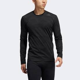 アルファスキン ウォーム グラフィック長袖Tシャツ / Alphaskin Warm Graphic Long Sleeve Tee (ブラック)