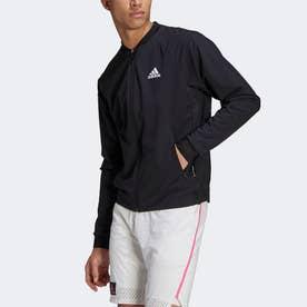 テニス ストレッチウーブン PRIMEBLUE ジャケット / Tennis Stretch-Woven Primeblue Jacket (ブラック)
