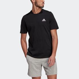 エッセンシャルズ エンブロイダード スモールロゴ 半袖Tシャツ / Essentials Embroidered Small Logo Tee (ブラック)