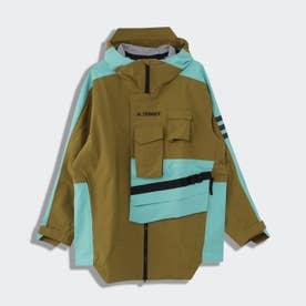 テレックス Xploric レインジャケット / Terrex Xploric Rain Jacket (グリーン)