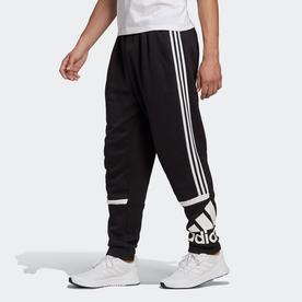 エッセンシャルズ ロゴ カラーブロック カフパンツ / Essentials Logo Colorblock Cuff Pants (ブラック)