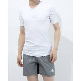 メンズ サッカー/フットサル 半袖インナーシャツ ALPHASKINTEAMショートスリーブシャツ CW9522 (ホワイト)