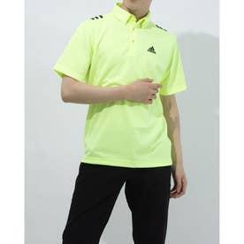 メンズ ゴルフ 半袖シャツ ショルダーストライプスS/SB.D.シャツ GS9510 (イエロー)