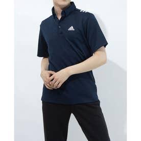 メンズ ゴルフ 半袖シャツ ショルダーストライプスS/SB.D.シャツ GS9512 (ネイビー)