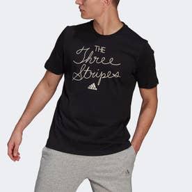 3ストライプス スローガン 半袖Tシャツ / Three Stripes Slogan Tee (ブラック)