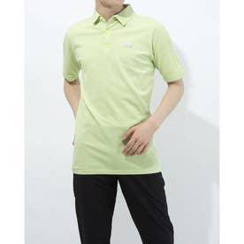 メンズ ゴルフ 半袖シャツ ジャカードスリーストライプス 半袖セーターポロ GM3601 (イエロー)
