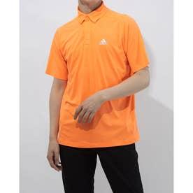 メンズ ゴルフ 半袖シャツ コントラストプラケット 半袖ボタンダウンシャツ GM3619 (オレンジ)