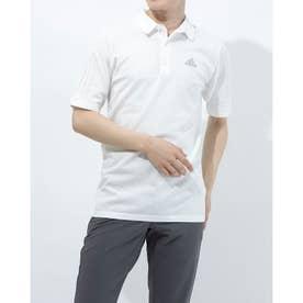 メンズ ゴルフ 半袖シャツ ジャカードスリーストライプス 半袖セーターポロ GM3600 (ホワイト)