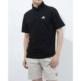 メンズ ゴルフ 半袖シャツ HEAT.RDY 半袖ボタンダウンシャツ GM3617 (ブラック)