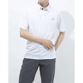 メンズ ゴルフ 半袖シャツ コントラストプラケット 半袖ボタンダウンシャツ GM3618 (ホワイト)
