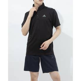 メンズ ゴルフ 半袖シャツ ショルダーストライプスS/SB.D.シャツ GS9511 (ブラック)
