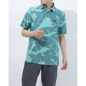 メンズ ゴルフ 半袖シャツ ボタニカルプリント 半袖シャツ GM0251 (グリーン)