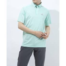 メンズ ゴルフ 半袖シャツ コントラストプラケット 半袖ボタンダウンシャツ GM3620 (グリーン)