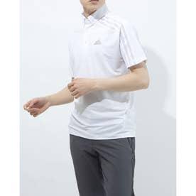 メンズ ゴルフ 半袖シャツ HEAT.RDY 半袖ボタンダウンシャツ GM3614 (ホワイト)