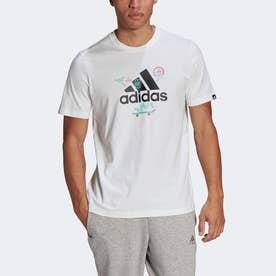カートゥーン ロゴ グラフィック 半袖Tシャツ / Cartoon Logo Graphic Tee (ホワイト)