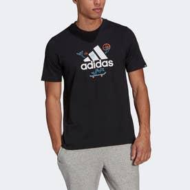 カートゥーン ロゴ グラフィック 半袖Tシャツ / Cartoon Logo Graphic Tee (ブラック)