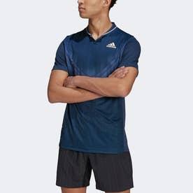 グラフィック テニス ポロシャツ / Graphic Tennis Polo Shirt (ブルー)