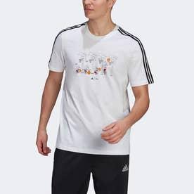 M 3ストライプス DISNEY グラフィックTシャツ (ホワイト)