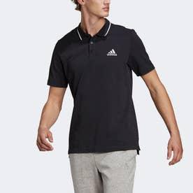 エアロレディ エッセンシャルズ ピケ スモールロゴ ポロシャツ / AEROREADY Essentials Pique Small Logo Polo Shirt (ブラッ