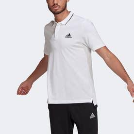 エアロレディ エッセンシャルズ ピケ スモールロゴ ポロシャツ / AEROREADY Essentials Pique Small Logo Polo Shirt (ホワイ