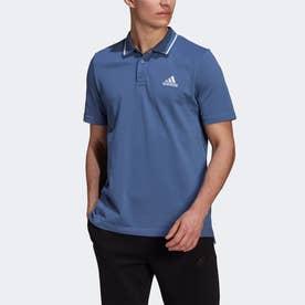 エアロレディ エッセンシャルズ ピケ スモールロゴ ポロシャツ / AEROREADY Essentials Pique Small Logo Polo Shirt (ブルー