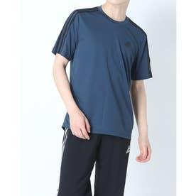 メンズ 半袖機能Tシャツ MD2M3ストライプスTシャツ GM2106 (ネイビー)