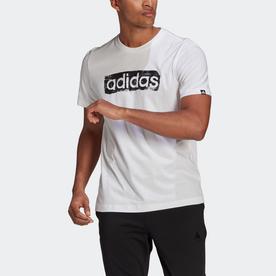 ブラッシュストローク ロゴ ボックス グラフィック 半袖Tシャツ / Brushstroke Logo Box Graphic Tee (ホワイト)
