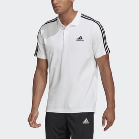 M ESS 3ストライプス PQ ポロシャツ (ホワイト)